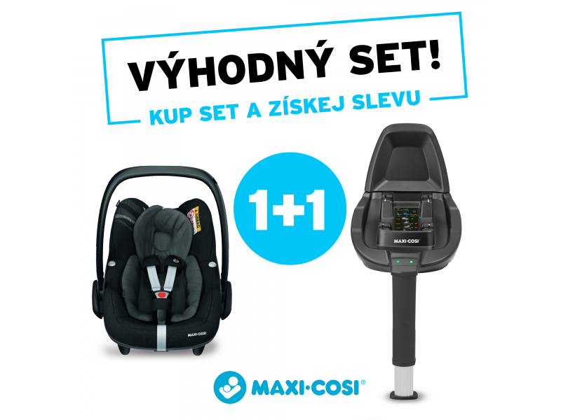 MAXI-COSI Pebble Pro i-Size Essential Black 2021 + Základňa Family Fix2 (set)