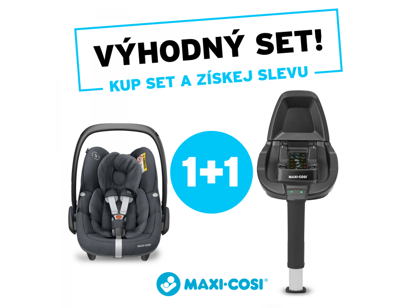 MAXI-COSI CabrioFix 2021 Essential Graphite + Základňa Family Fix (set)