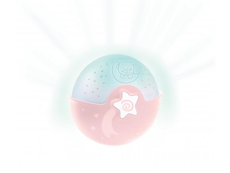 Infantino Noční lampička s projekcí růžová