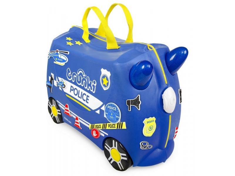 Trunki kufrík + odrážadlo PERCY POLICE CAR