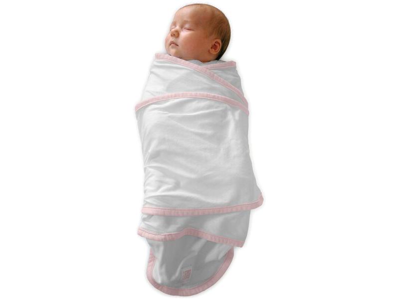 Zavinovačka Miracle blanket bílá-růžová