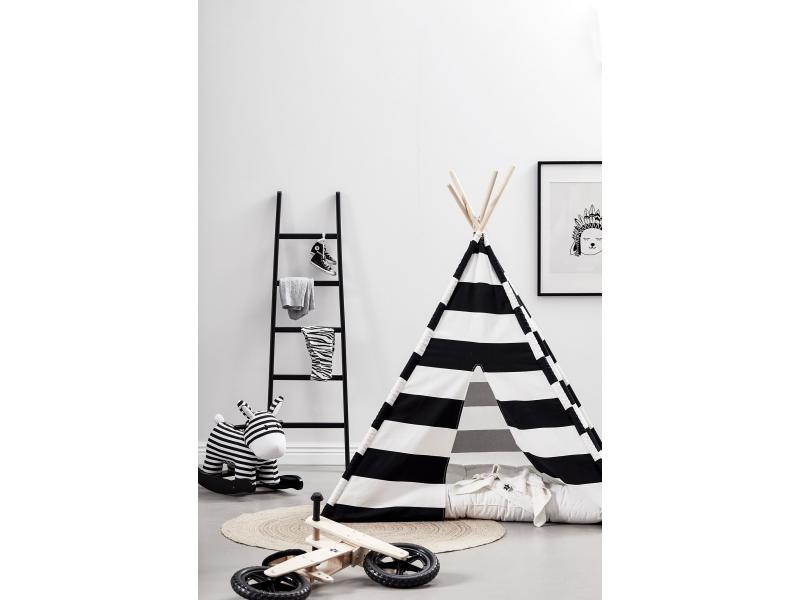 Kids Concept Stan teepee černo-bílý