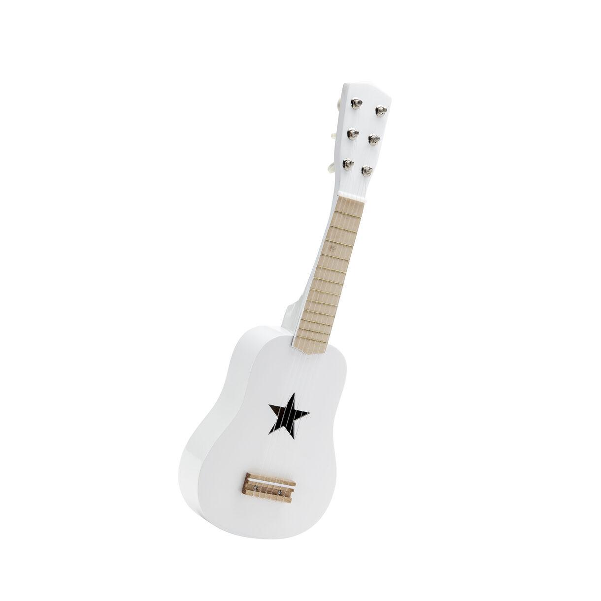 Gitara drevená biela