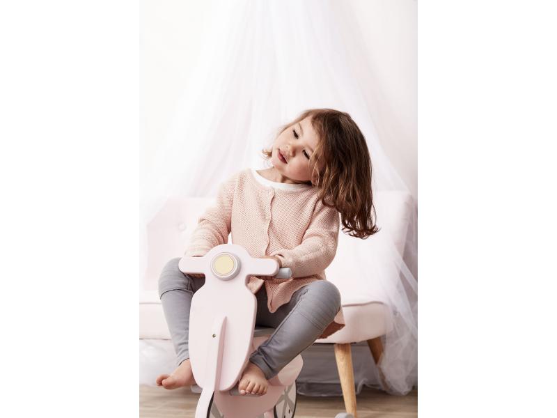 Kids Concept Houpací skútr dřevěný Pink White