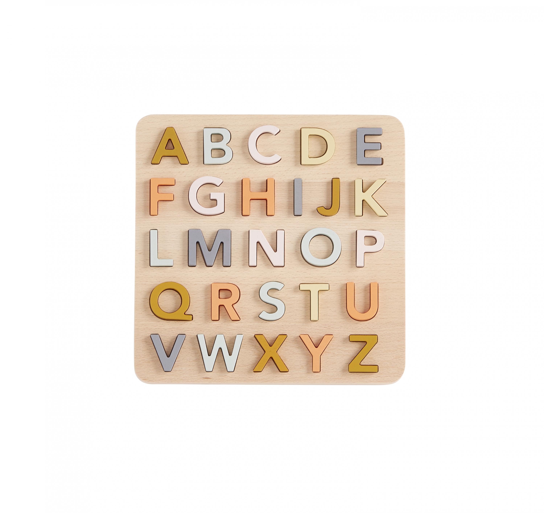 Puzzle dřevěné abeceda