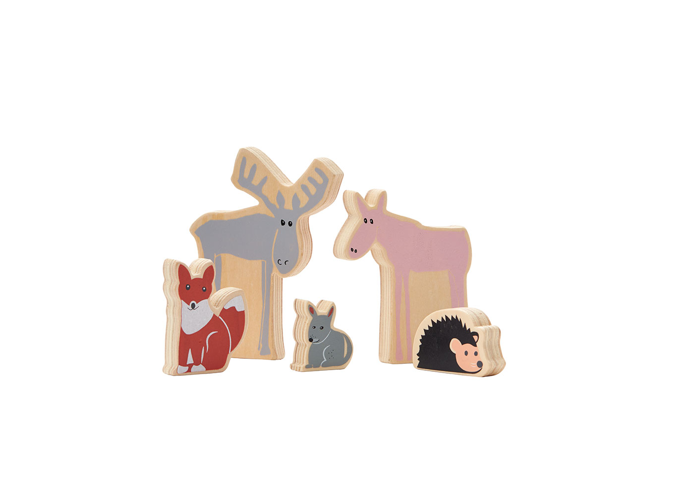Lesní zvířata dřevěná Edvin