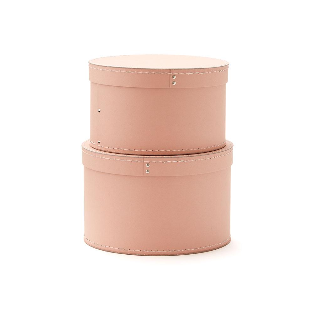Krabice guľaté 2 ks Pink