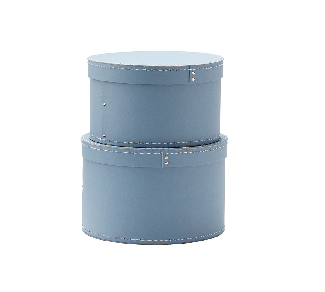Krabice guľaté 2 ks Blue