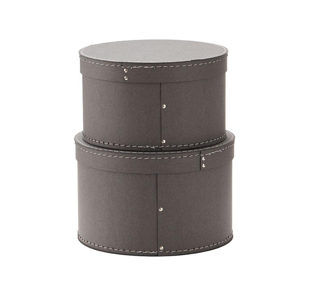 Krabice guľaté 2 ks Grey