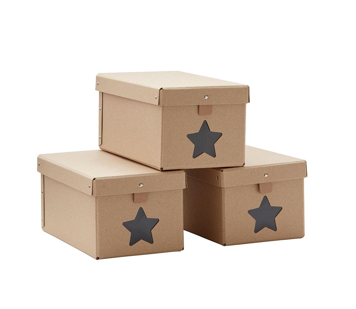Krabice na topánky Natural 3ks