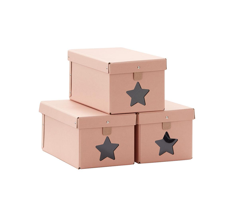 Krabice na topánky 3ks Pink