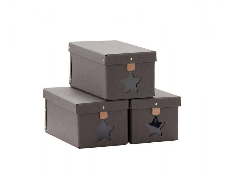 be74a6d7d Krabice na boty 3ks Grey | MiniBaby.cz
