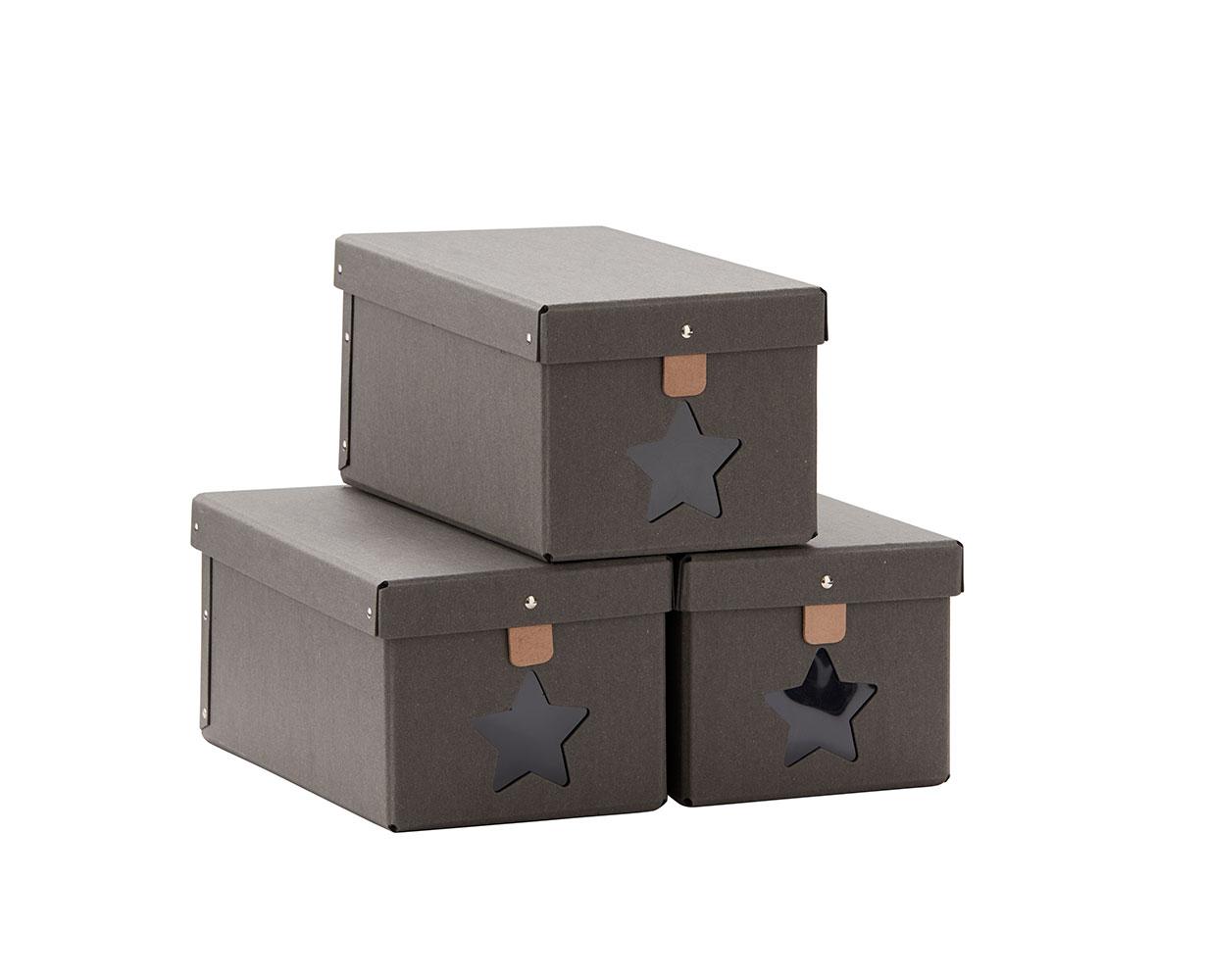 Krabice na topánky 3ks Grey