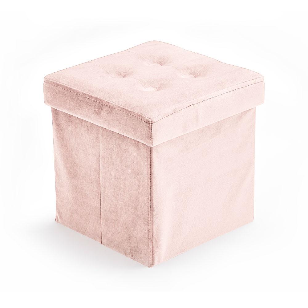 Úložný taburet Velvet Light Pink