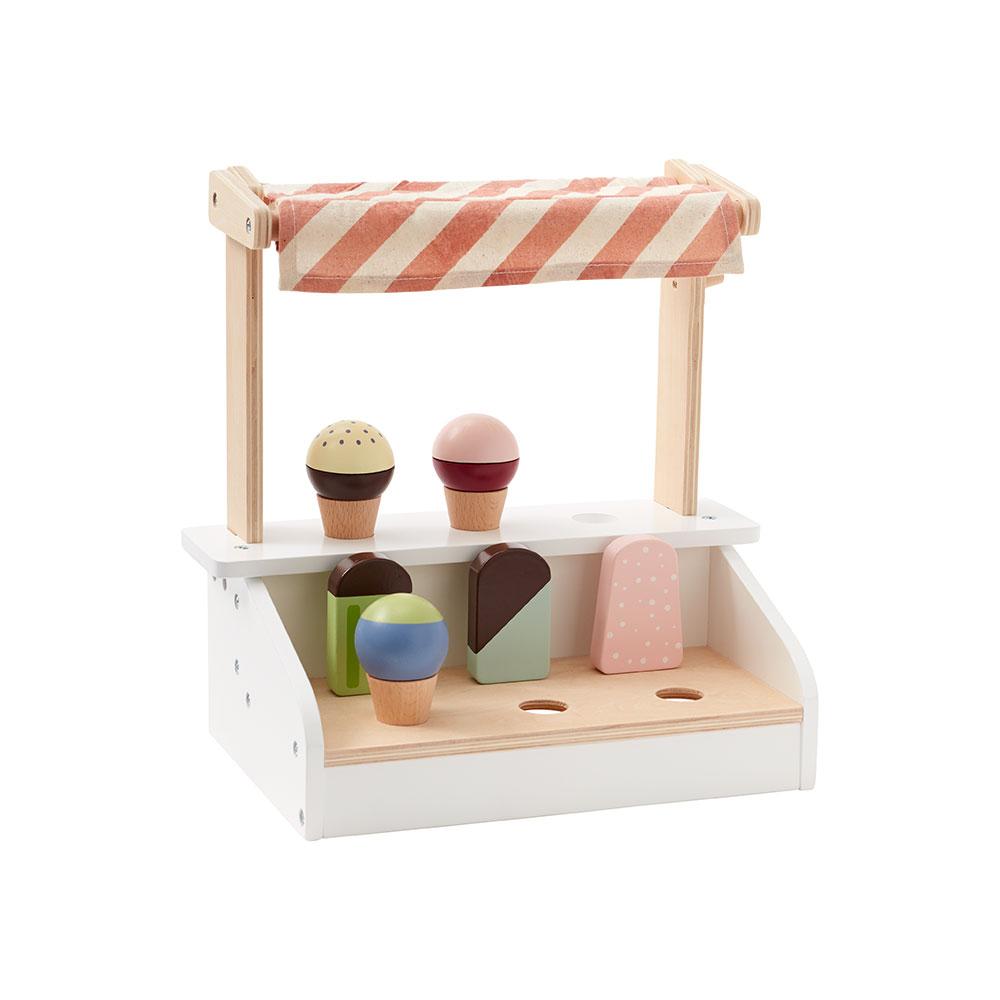 Stojan se zmrzlinou a nanuky dřevěný Bistro