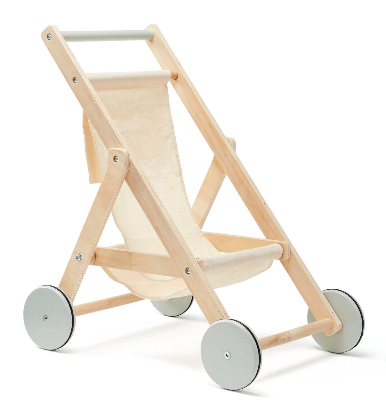 Kočiarik pre bábiky drevený