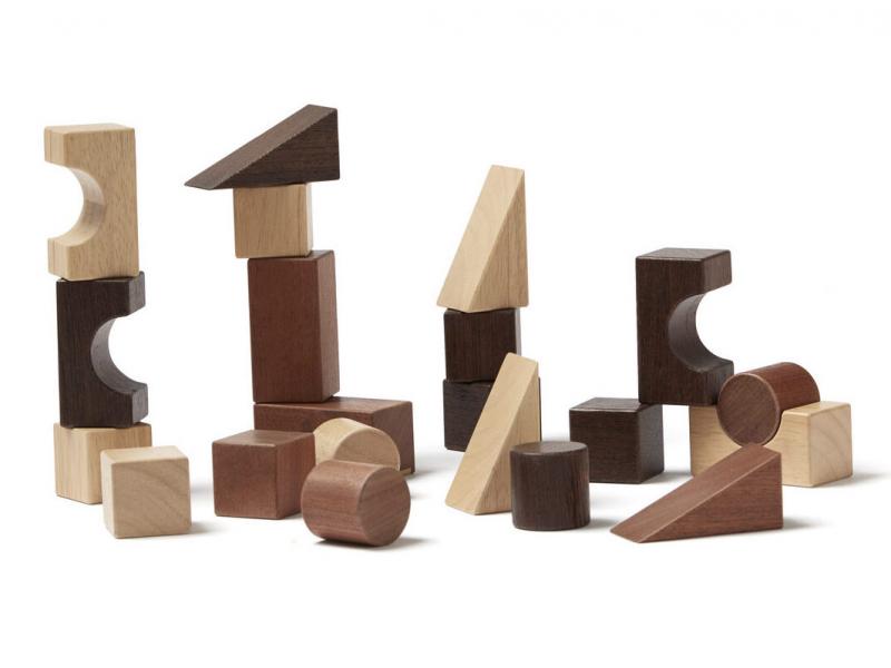 Kostky dřevěné 21 ks Neo