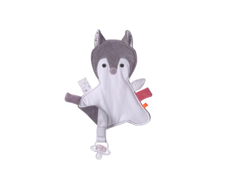 Maznáčik s pútkom na cumlík Líška