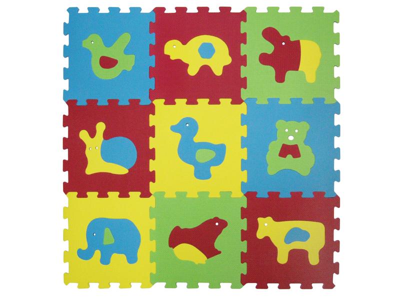 Puzzle penové 84x84 cm zvieratká Basic