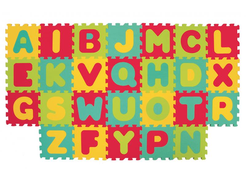 Puzzle pěnové 180x150 cm písmena