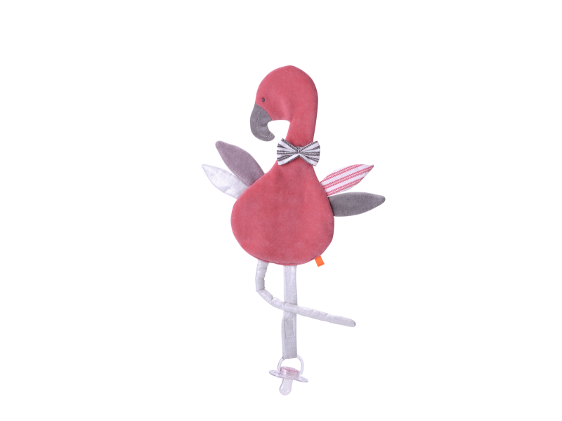 Maznáčik s pútkom na cumlík Plameniak