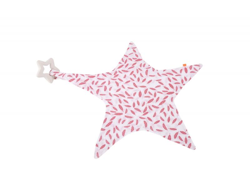 Maznáčik hviezda s hryzátkom ružová