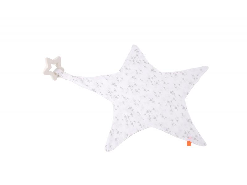 Maznáčik hviezda s hryzátkom šedá
