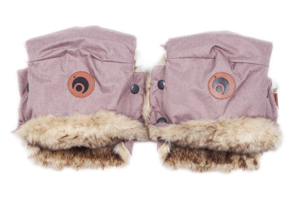Rukavice na kočík BASIC Pink Melange
