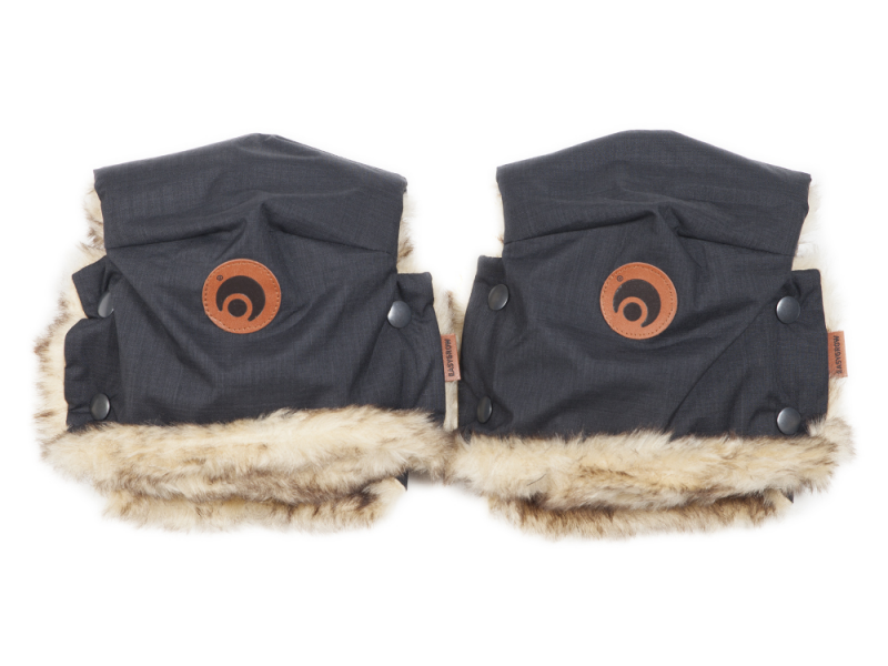 Rukavice na kočárek BASIC Black Melange