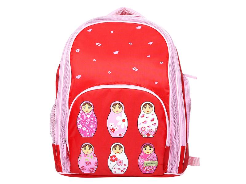 Školní batoh červený / růžový
