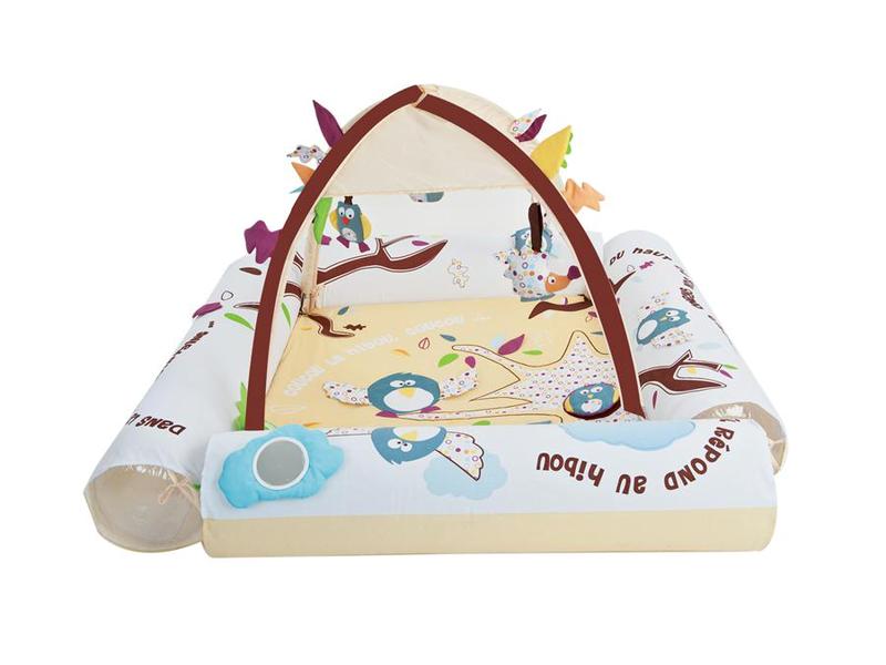 Hrací deka / ohrádka s hrazdou Ptáčci