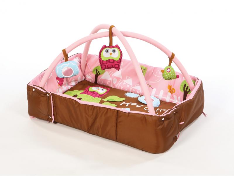 Ludi Hrací deka s mantinelem a hrazdou Sova růžová