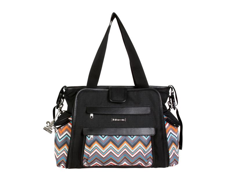 Přebalovací taška Nola Black/Safari ZigZag