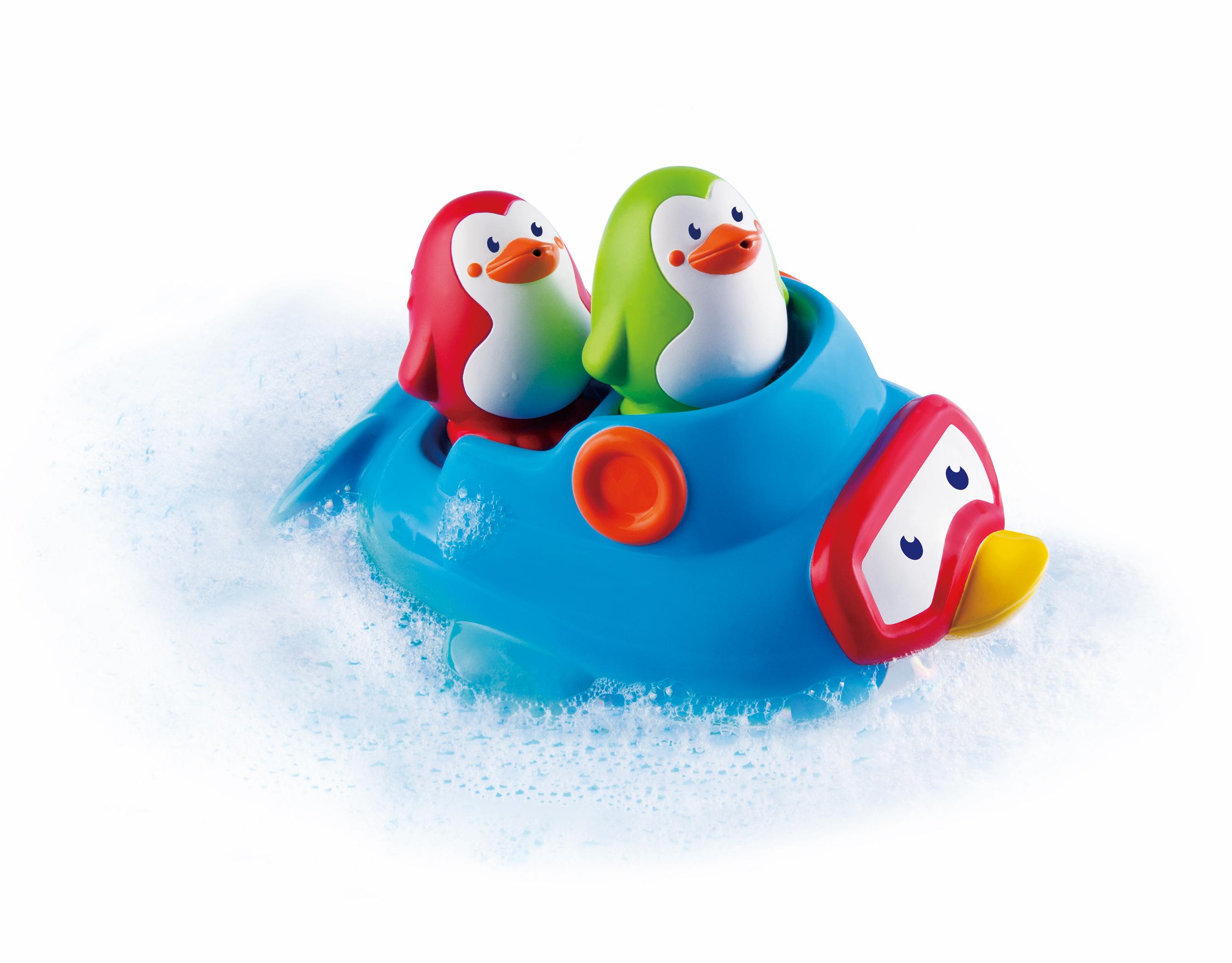 Lodička s tučňáky do koupele