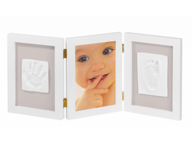 Rámeček Photo Frame 2 Baby Prints White