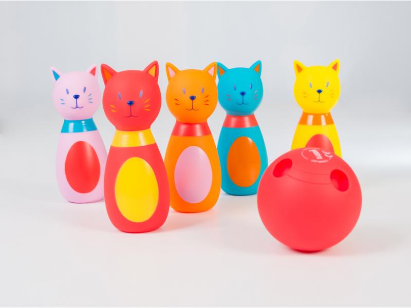 Bowling pre najmenších Mačka