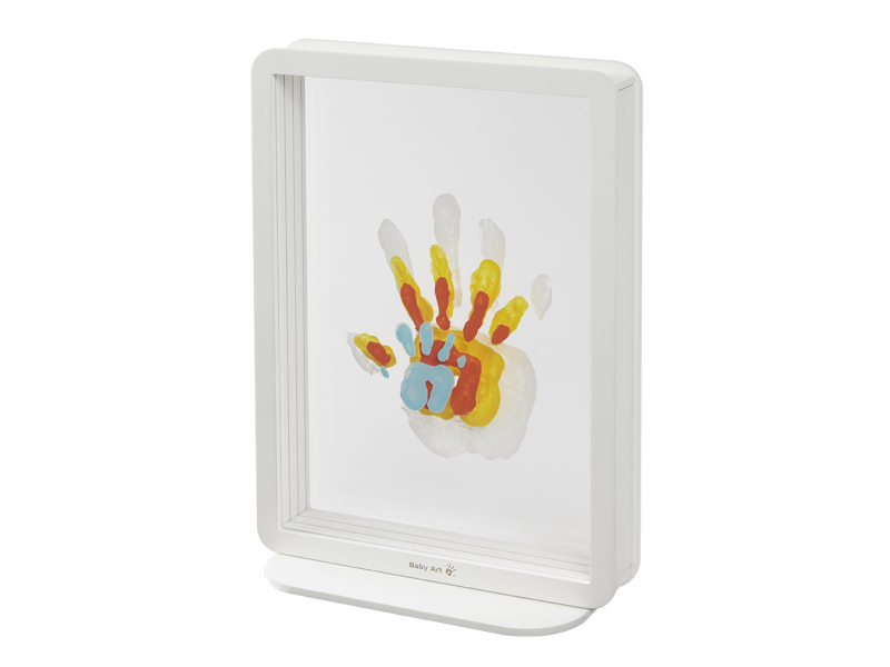 Baby Art Rámeček Superposed Handprints White