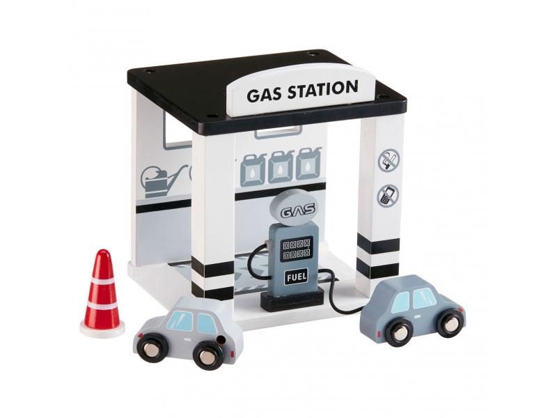 Benzínová stanice dřevěná Grey