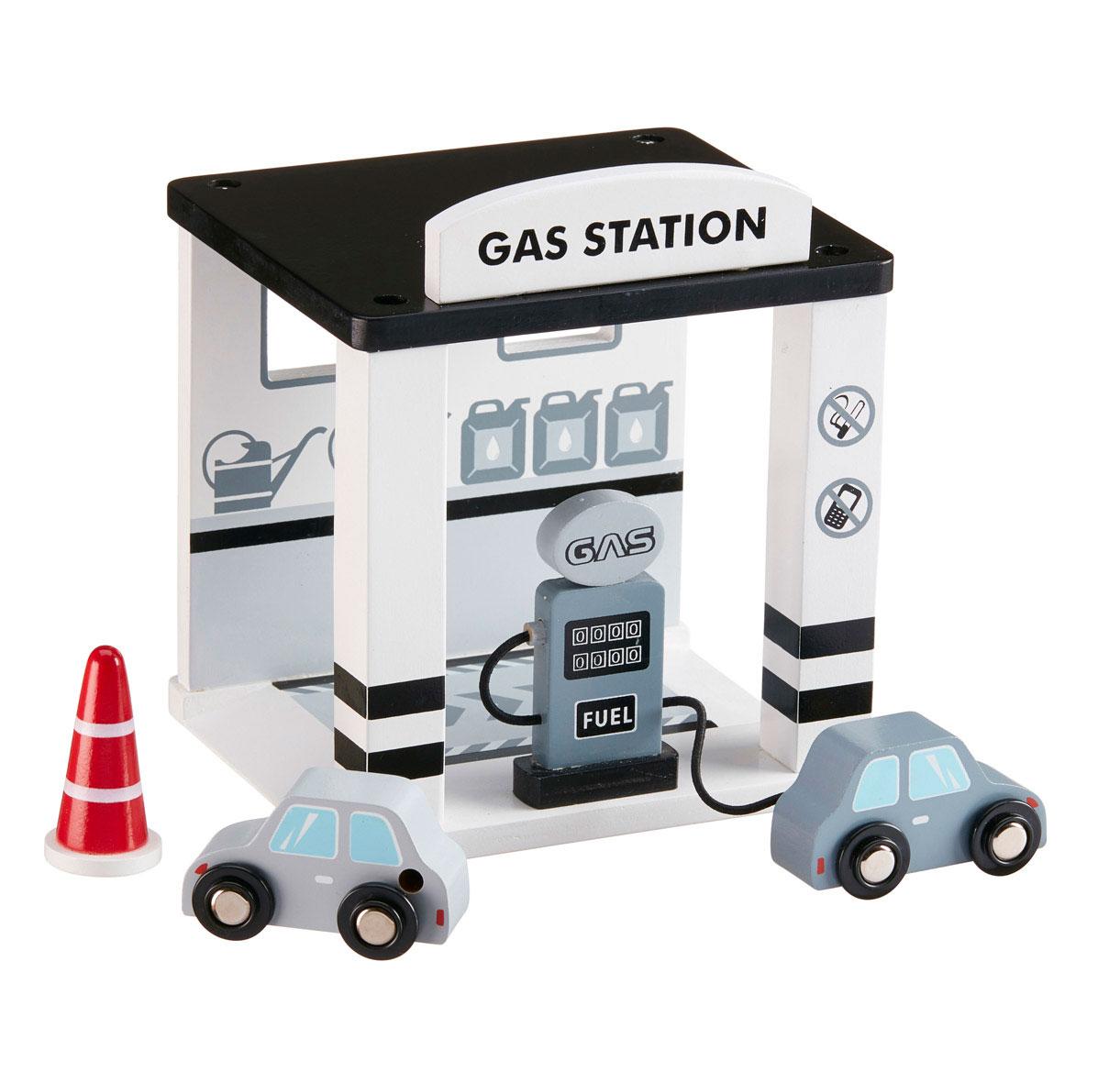 Benzínová stanica drevená Grey