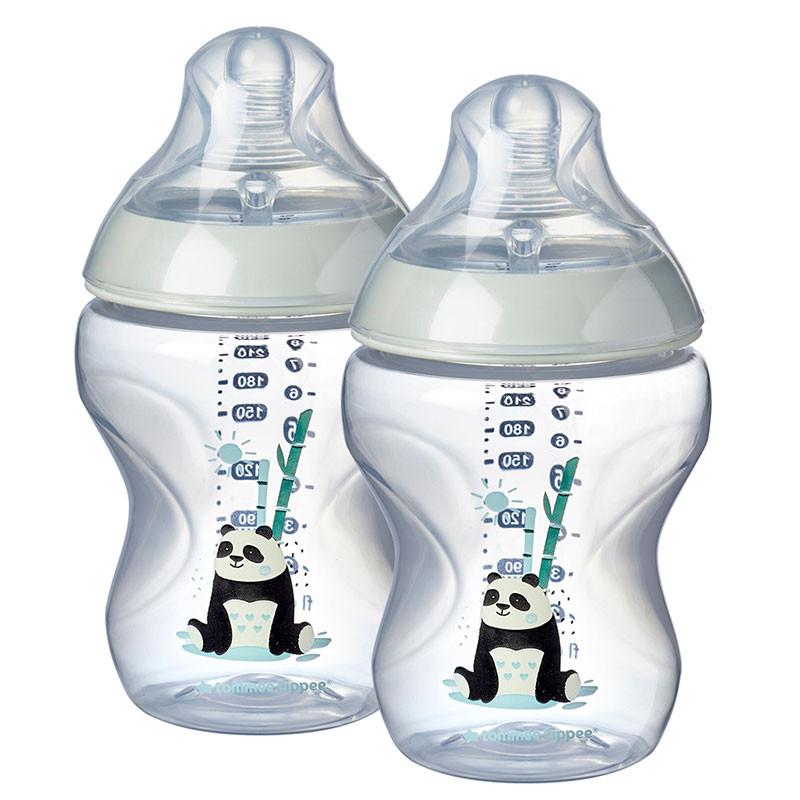 Dojčenská fľaša C2N Girl 2ks 260ml 0m +