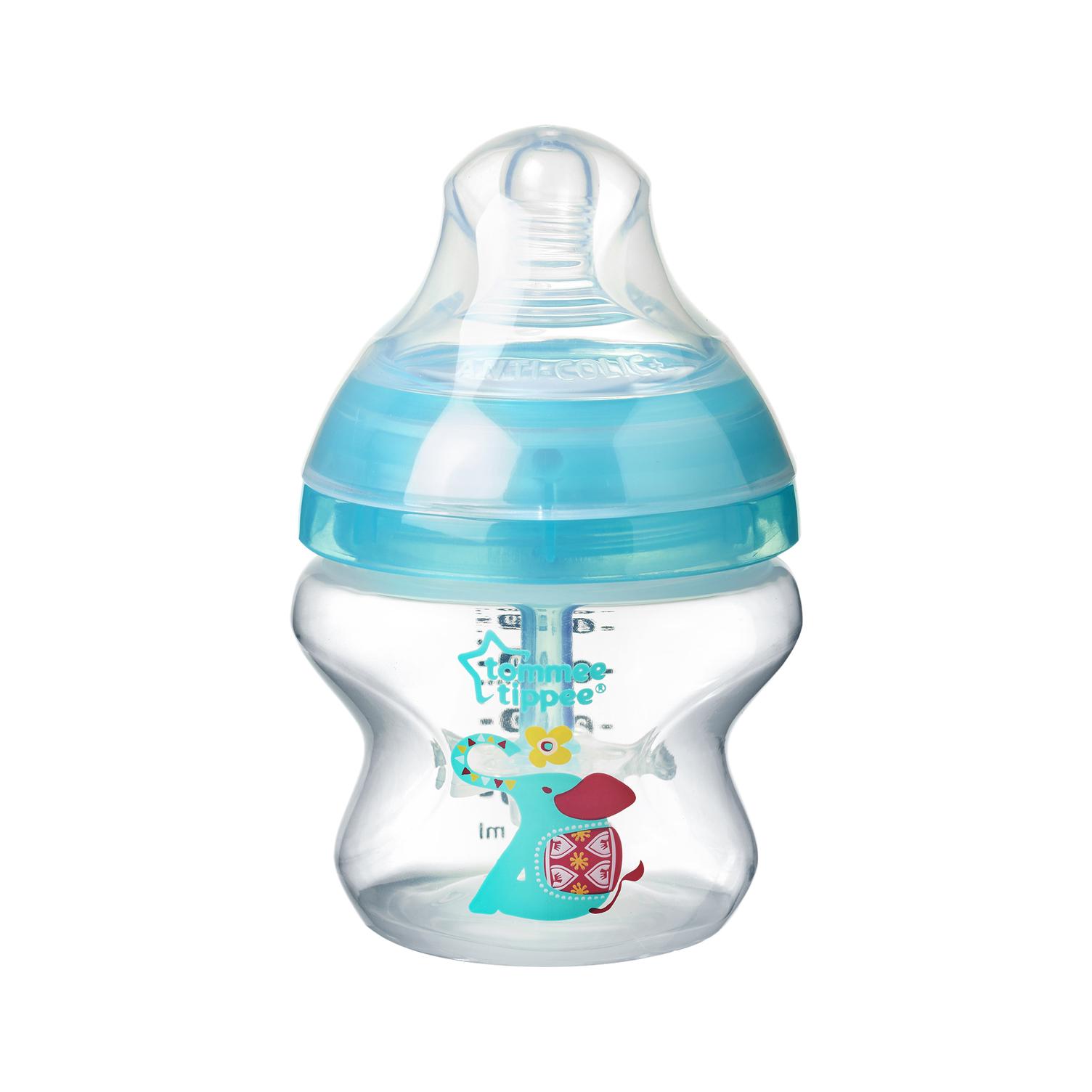 Dojčenská fľaša C2N ANTI-COLIC potlač 150ml 0m+