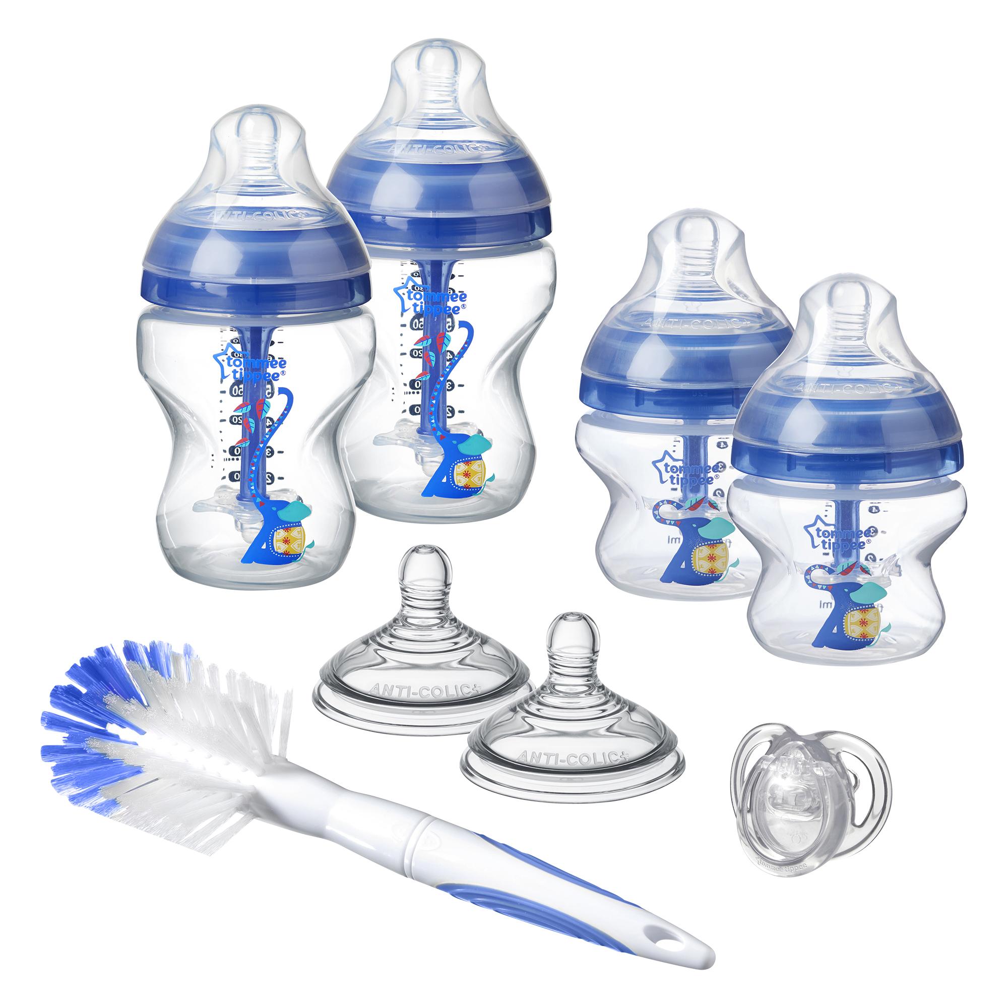 Sada kojeneckých lahviček C2N ANTI-COLIC s kartáčem Blue