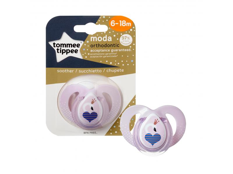Tommee Tippee Šidítko C2N silikon Moda 6-18m růžové