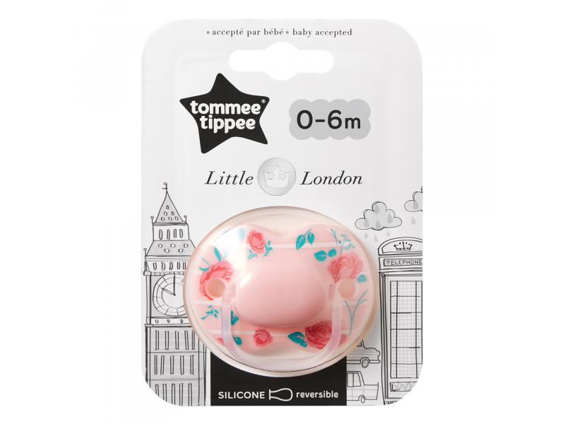Tommee Tippee Šidítko C2N silikon Little London Girl 0-6m