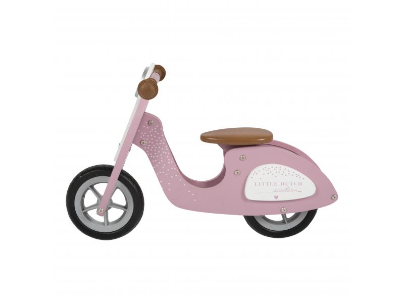 Little Dutch Odrážadlo Scooter drevo Pink