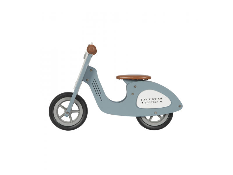 Little Dutch Odrážedlo Scooter dřevo Blue