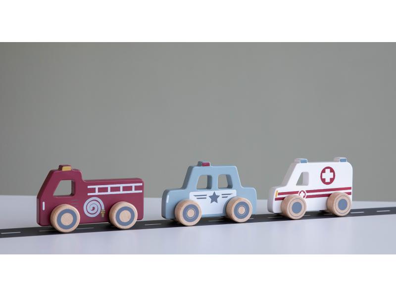 Little Dutch autíčka - Záchranné zložky set 3ks