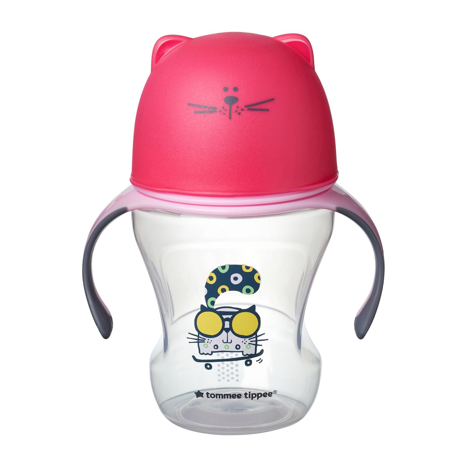 Hrnček s náustkom Soft 230ml 6m+ Pink