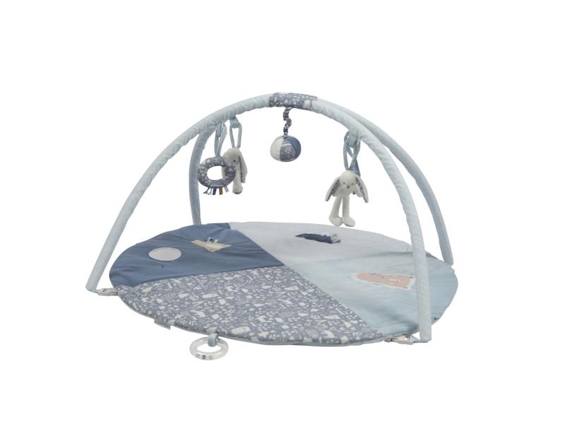 Plyšová hracia deka s hrazdičkou BLUE