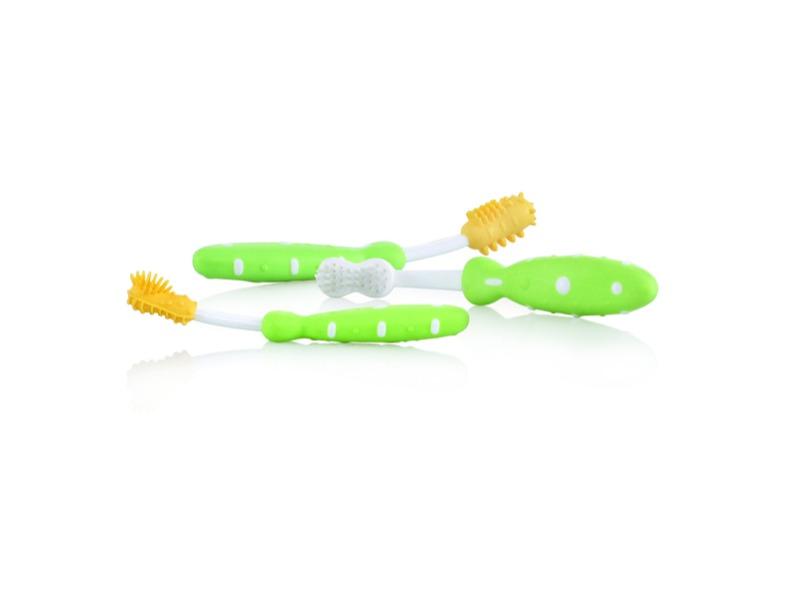 Sada zubních kartáčků 3m+ zelená